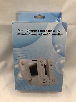 $ CDN18.98 • Buy 3 In 1 Charging Dock For Wii U Remote Game Pad And 2 Controllers Black US SELLER