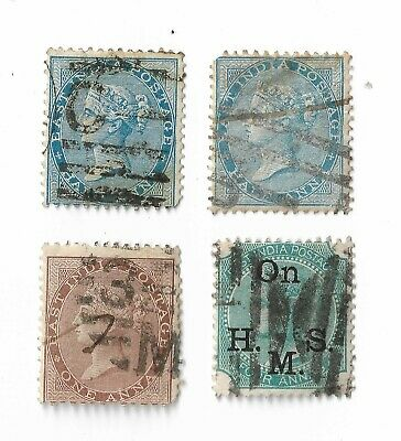 East India Queen Victoria Postage Stamps X 4, Used  • 3.75£