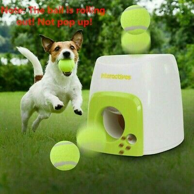 AU48.23 • Buy Automatic Ball Launcher Dog Throwing Machine Toys Interactive Tennis Pet Thrower