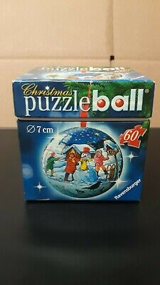 $16.99 • Buy 2006 Christmas Tree Ornament Puzzle Ball 3D Ravensburger 60 Pieces Free Shipping