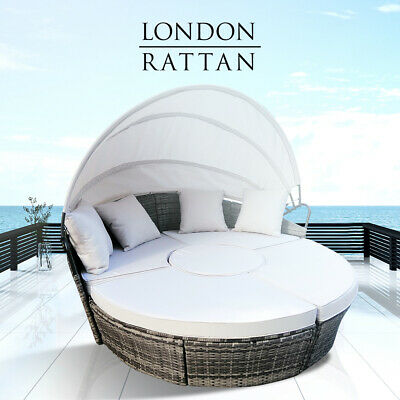 AU739 • Buy 【EXTRA10%OFF】LONDON RATTAN Day Bed Daybed Sofa Garden Wicker Outdoor