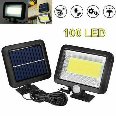 100 COB LED Solar Light With Motion Sensor Outdoor Garden Spotlight Wall Lamp UK • 12.50£