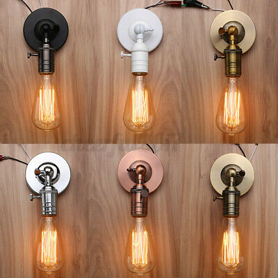 £9.99 • Buy Modern Industrial Vintage Retro Rustic Sconce Wall Light Lamp Fitting Fixture