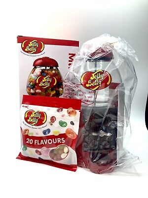 Jelly Belly Bean Machine Sweet Candy Dispenser & Mini Bean Bin - Red Metal • 32.99£