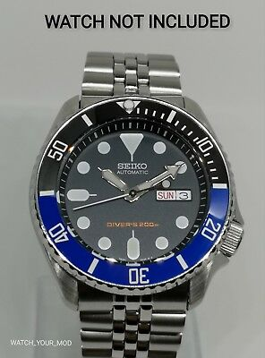 $ CDN43.01 • Buy Black Blue Batman Ceramic Bezel Insert For Seiko SKX007 SRPD Scratch Resistant