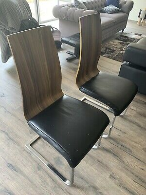 AU700 • Buy 8 Dining Chairs (Wood, Faux Leather And Metal Legs)