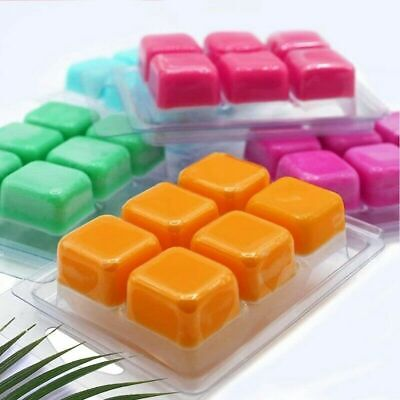 20pcs Square Wax Melt Clamshells Molds Wax Melt Containers For Wickless Candle • 8.25£