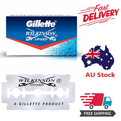 AU12.99 • Buy Gillette Wilkinson Sword - Stainless Steel - Double Edged - Safety Razor Blades