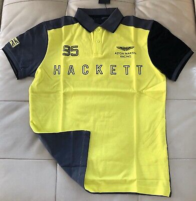Size M Aston Martin Racing Multi Wings Polo Shirt From Hackett London Yellow • 55£