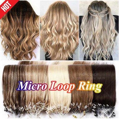 £28.10 • Buy CLEARANCE Micro Ring Loop 100% Remy Human Hair 1G Tip Extensions Nano Bead Links