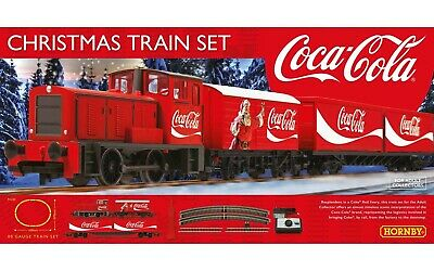 £71.99 • Buy R1233M Hornby 00 Gauge The Coca Cola Christmas Starter Train Set Brand New Boxed