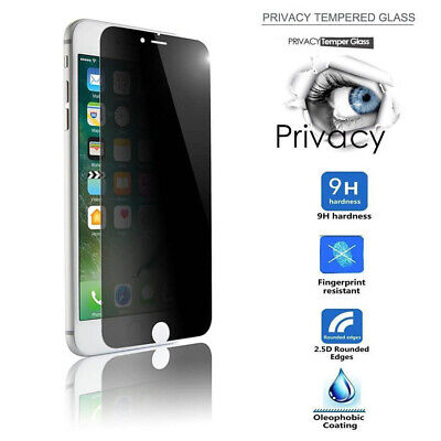 Anti Spy Screen Protector For IPhone 7/8 Plus PRIVACY FULL COVER TEMPERED GLASS • 3.69£