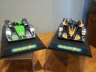 £45 • Buy Pair Scalextric Cars MG Lola & KnightHawk Le Mans Used Hornby