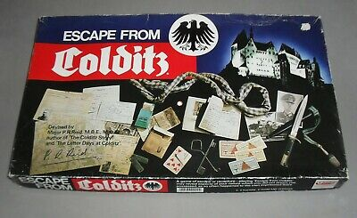 Escape From Colditz WW2 Strategy War Board Game Gibsons 1980s COMPLETE VGC RARE • 44.99£