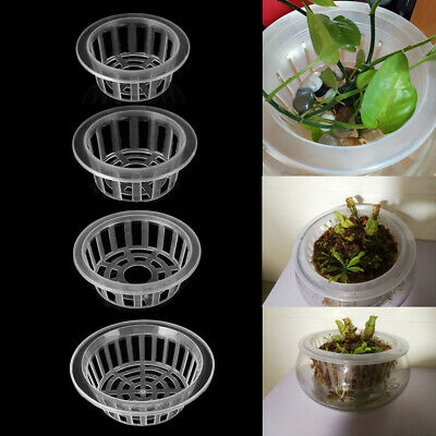 $ CDN3.99 • Buy Aquarium Flower Pot Plant Culture Blue Plants Growth Mesh Net Cloning Plastic