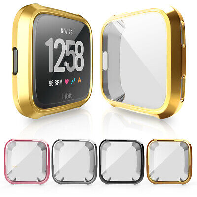 $ CDN2.87 • Buy Band Protector Full Coverage Bumper Soft Cover Watch TPU Case For Fitbit Versa