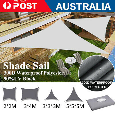 AU41.78 • Buy Extra Heavy Duty Shade Sail Shade Cloth Grey Gray Sun Triangle Square Rectangle