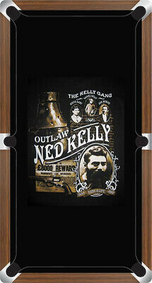 AU878.99 • Buy Graphic Digitally Printed Outlaw Kelly Gang Ned Kelly 9ft Pool Table Cloth