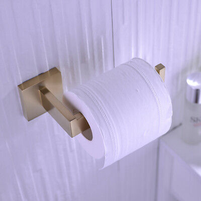 AU22 • Buy Brushed Gold Bathroom Toilet Paper Holder Wall Mount Tissue Roll Hanger SUS 304