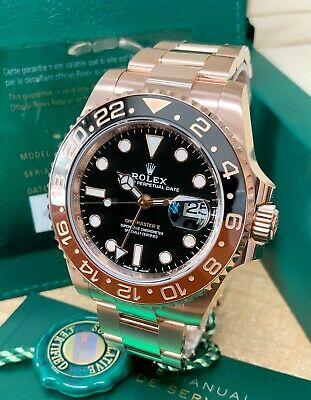 $ CDN59331.66 • Buy Rolex GMT Master II 126715CHNR Rose Gold 40mm Black Dial 2020 With Papers UNWORN