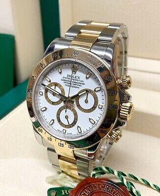 $ CDN25929.10 • Buy Rolex Daytona Bi Colour 116523 White Dial 40mm With Papers SERVICED BY ROLEX