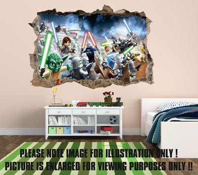£14.99 • Buy Star Wars-Lego Space Battle Hole In The Wall Full Colour Sticker Decal Kids
