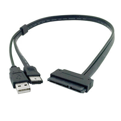 AU9.28 • Buy USB To SATA Adapter Cable 22Pin SATA To Esata Data Cable USB SATA To ESATA Cable
