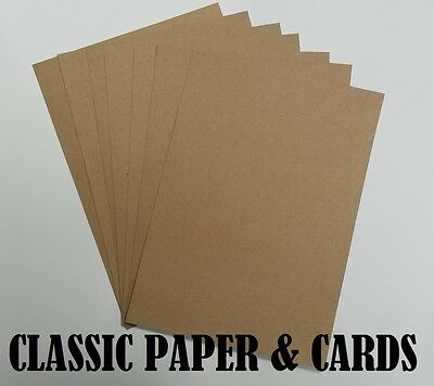 £1.49 • Buy A4 / A5 Quality Eco 100% Recycled Brown 280gsm Kraft Card-for Craft/weddings