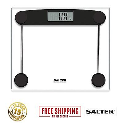 Salter Digital Bathroom Scale Compact Toughened Glass LCD Body Weighing Scales • 19.03£