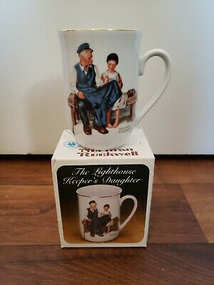 $ CDN9.67 • Buy 1982 Norman Rockwell Museum Coffee Cup Mug Lighthouse Keeper's Daughter 4