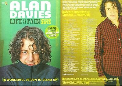 £1.99 • Buy Alan Davies Double-sided A5 Colour  2012  Life Is Pain  UK Tour Flyer