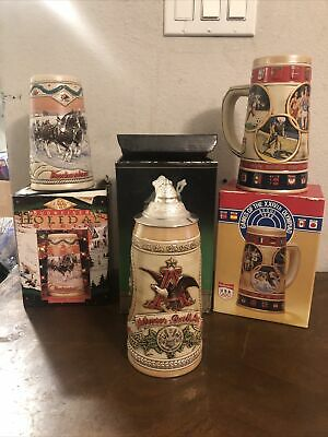 $ CDN31.25 • Buy Vintage Budweiser Stein And Cups Lot