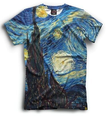 £17.81 • Buy The Starry Night Tshirt - All Over Full Printed Tee Vincent Van Gogh Art