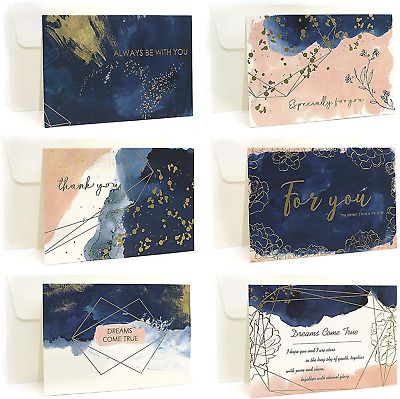 Ideal Home 48 Pack Thank You Cards Multipack With Envelopes, Greeting Cards With • 11.88£