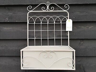£24.50 • Buy New Great Offer Metal Wall Planter Flower Pot Vintage Grey Finish