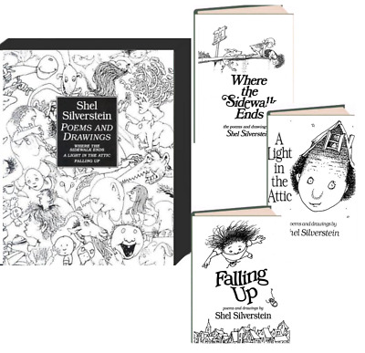 Shel Silverstein Poems And Drawings Box Set Sidewalk Ends,Attic,Falling (hc) • 33.50£