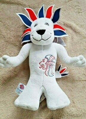 London Olympic Mascot Pride The Lion 2012 Soft Teddy 12  Tall Collectable VGC • 8.99£