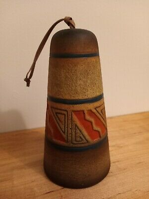 Clay Studio Pottery Bell Indian Inspired  • 13.98£