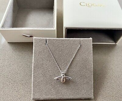 Brand New Clogau Pendant Necklace Honey Bee 🐝 Sterling Silver Welsh Rose Gold • 130£