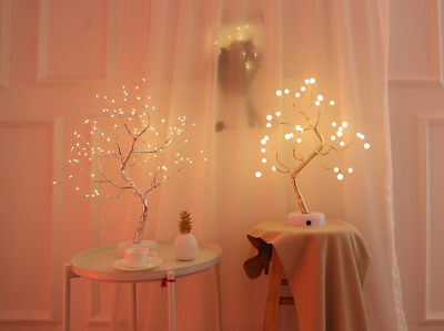 108 LED USB 3D Table-Lamp Copper Wire Christmas Fire Tree Night Fairy Light Gift • 14.98£
