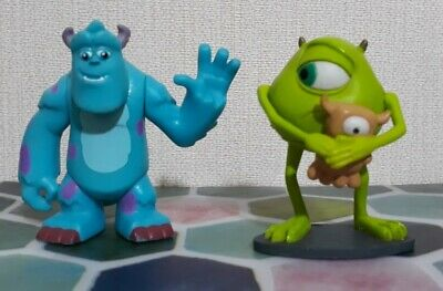 Disney Pixar Monsters Inc Mike & Sully Cake Topper Play Figures 2-3  VGC • 8.99£