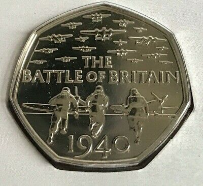 ~Simply Coins~ 2015 BATTLE OF BRITAIN BU 50P FIFTY PENCE COIN   • 37.50£