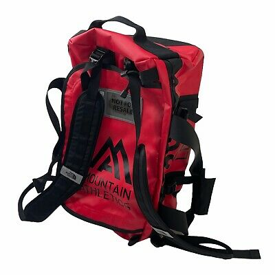 The North Face Base Camp Duffel Waterproof Travel Bag Red Hiking Camping Outdoor • 106.38£