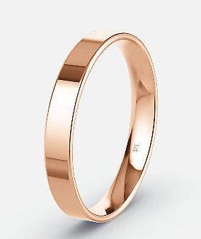 £74.50 • Buy 9ct Rose Gold Ring 3mm Flat-Shape Wedding Band- Sizes H-T -Light Weight