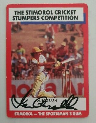 AU30 • Buy Ian Chappell Cricket Signed In Person Stimorol Card  Buy Genuine