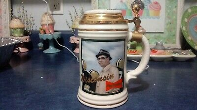 $ CDN100.25 • Buy 1993 Budweiser Beer Vince Lombardi Packers Lidded Stein Low #103 Awesome
