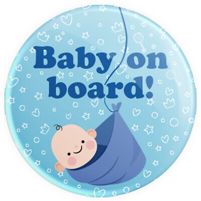 £0.99 • Buy Baby On Board Blue Boy 38mm Brand New Button Pin Badge - Novelty Pin Badge.