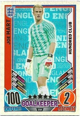 £3.45 • Buy  Match Attax England Euro 2012 Joe Hart 100 Hundred Club No 210
