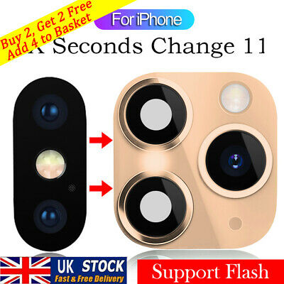 Fake Camera Lens Sticker Seconds Change Cover For IPhone X To IPhone 11 Pro Max • 3.55£