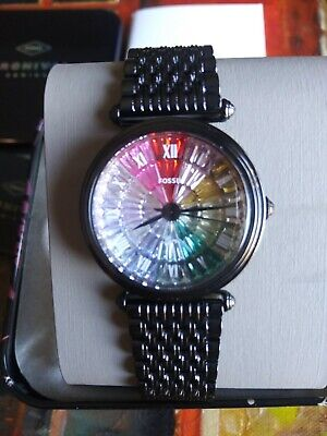 $ CDN118.72 • Buy Fossil Limited Edition Black Stainless Steel Rainbow Women's Watch LE1092